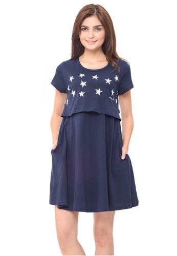 MOOIMOM navy MOOIMOM Starry Sky Nursing Dress & Baby Clothes Baju Hamil Menyusui Couple Ibu Anak - Navy Boy 24C16AAEB11CB4GS_1