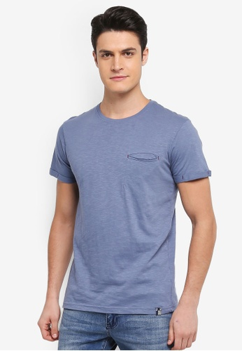 Indicode Jeans blue Brantford Garment Dyed Pocket T-Shirt 41B29AA6262492GS_1
