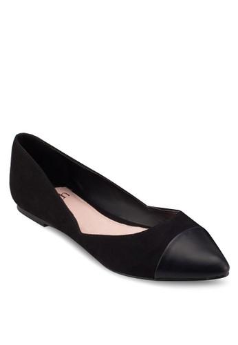 尖頭拼接平底鞋, 女esprit outlet 台中鞋, 鞋