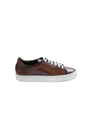Jonathan Abel brown Jonathan Abel Baltimore Sneakers in Cognac Patina A3987SH54A16F6GS_1
