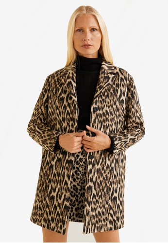 615fe846282c Buy Mango Unstructured Leopard Coat Online on ZALORA Singapore