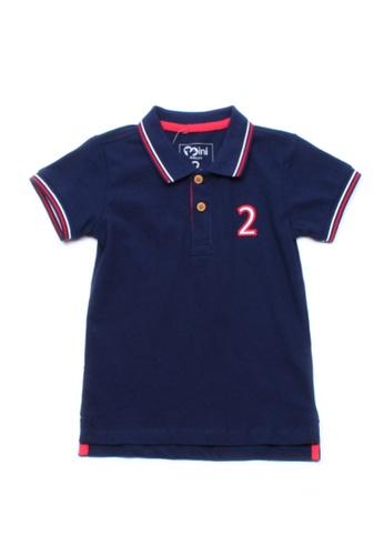Mini Moley navy Twin Tipped Boy's Polo T-Shirt 04C69KABC7B378GS_1