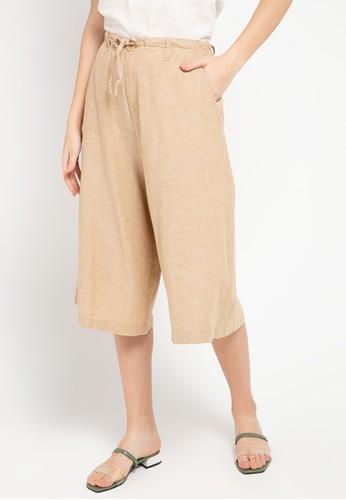Giordano multi Women's Linen Flare Culotte 996F0AA4329B36GS_1