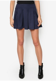 Basic Fit And Flare Skirt