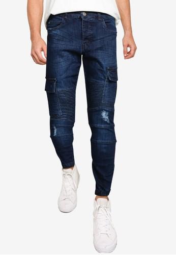 Brave Soul blue Denim Biker Jeans AFF85AA9B22171GS_1