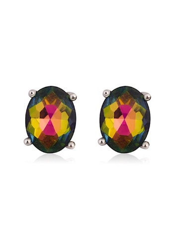 Glamorbit multi Rhinestone Mini Rainbow Dangle Statement Earrings 174DDAC5103F2EGS_1