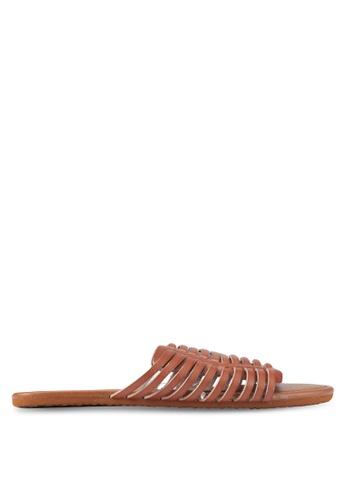 Billabong brown Tread Lightly Sandals BI783SH0SZBRMY_1