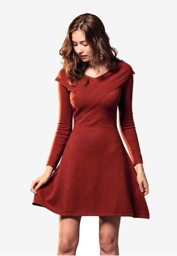 Kodz red Wrap Dress 7F354AAA00DC9BGS_1