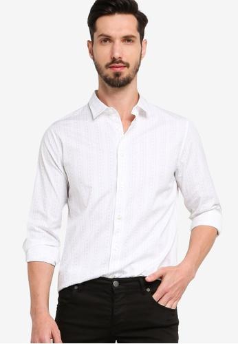 Calvin Klein white Ad-Long Sleeve Slim 2 Stripes Shirt - Calvin Klein Jeans FABAFAA7374D55GS_1