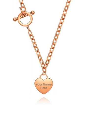 CELOVIS gold CELOVIS - Adora Heart Tag Pendant Necklace in Rose Gold A86D9ACB4C8908GS_1