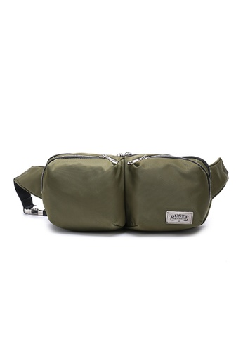 DUSTY green Multi-functional Compartment Waist Bag 48D58AC0F29F42GS_1