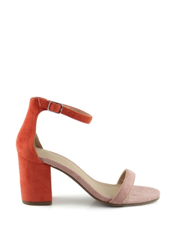 London Rag orange  Hailey Heel Sandals 7158ESH1C31332GS_1