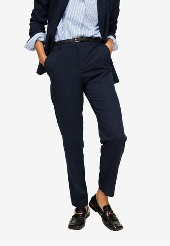 Mango blue Belt Suit Trousers 38A75AA49006F9GS_1