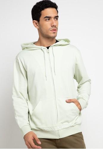Tolliver green Hoodies With Zipper 0C878AA37FDE4DGS_1