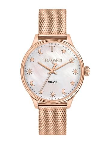 Trussardi gold Trussardi T-Complicity Rose Gold Steel Women's Watches R2453130501 ACA82AC47FCA88GS_1
