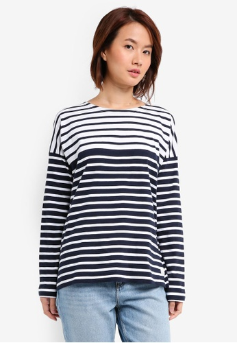 Jack Wills navy Willoughby Classic Breton Top 33CABAA111EA8AGS_1