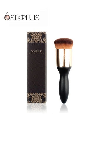 SIXPLUS black and brown and gold SIXPLUS Rounded Foundation Makeup Brush-Unique FD18EBEC5EFD0FGS_1