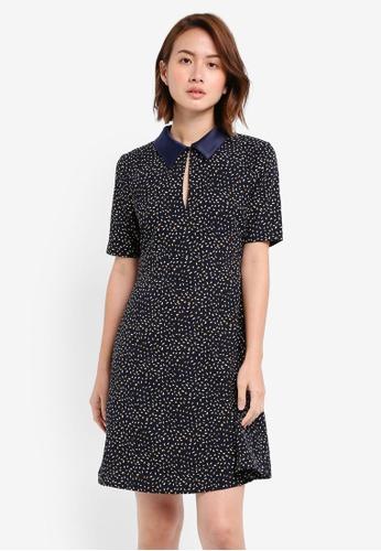 ZALORA navy Fit & Flare Shirt Dress 1BCB9AABDD2AC4GS_1