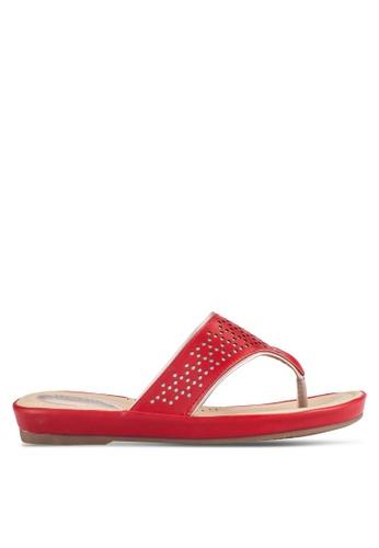 Alfio Raldo red Casual Sandals AL803SH0R9PPMY_1