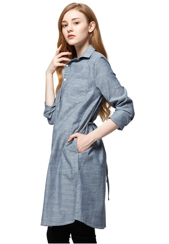 0dc0ffea909 Mamaway blue Chambray Maternity   Nursing Shirt Dress 9D2E1AAC491658GS 1