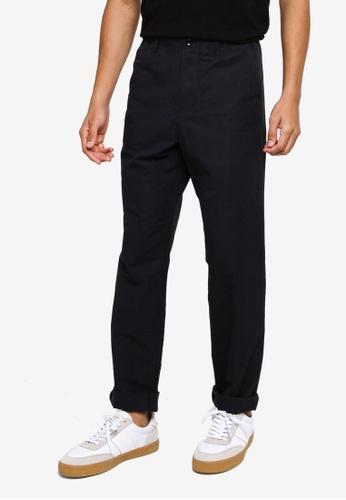 GAP navy Slim Taper Linen Pants 492AAAA9E30EDAGS_1