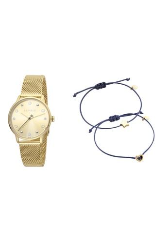 Esprit gold ESPRIT [Noel] 32mm Gold Stainless Steel Mesh Band Women Watch [ES1L174M0075] F0141AC4F532D0GS_1