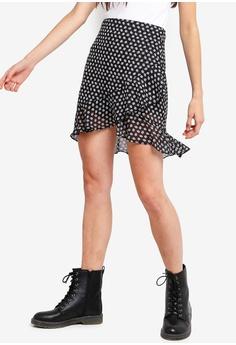 bb78afed08e Something Borrowed black Layered Wrap Skirt 11AD5AAD64BAC8GS 1