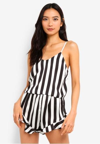 a1a092043dc22 Shop MISSGUIDED Satin Mono Frill Cami Pyjama Set Online on ZALORA  Philippines