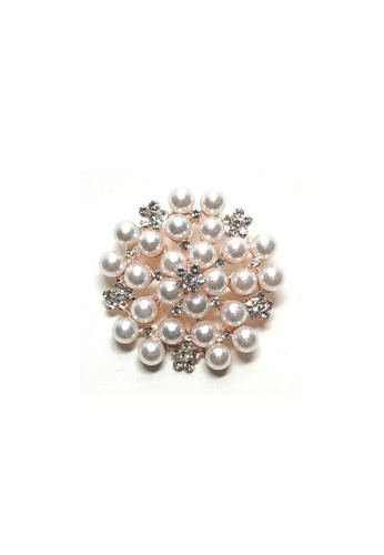 Loveaisyah white Brooch round pearl mini flower faux diamond 6E455AC38AE3E8GS_1