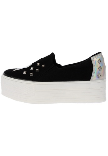 Maxstar Star Span Synthetic Leather Taller Insole Studed White Platform Sneakers US Women Size MA168SH65DMGHK_1