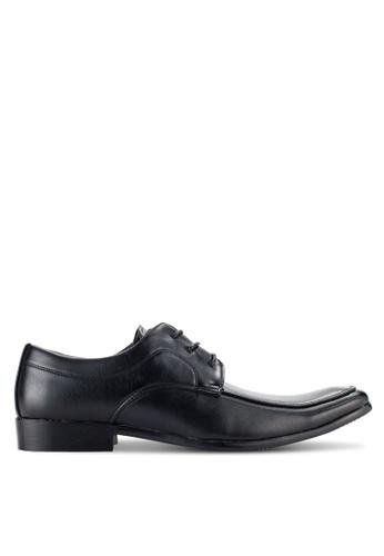 UniqTee black Modern Lace Up Derby Shoes UN097SH90NQJMY_1
