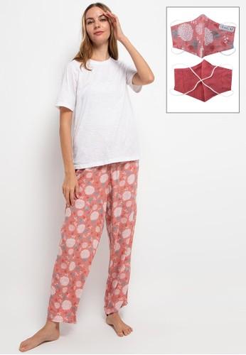 Expand white and pink Callidora Sleepwear 1E545AAE939EF4GS_1