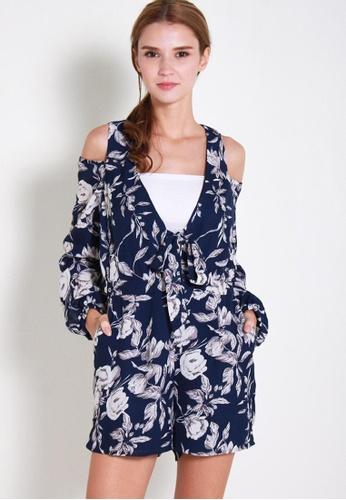 Leline Style blue Deka Floral Romper LE802AA84XDFSG_1