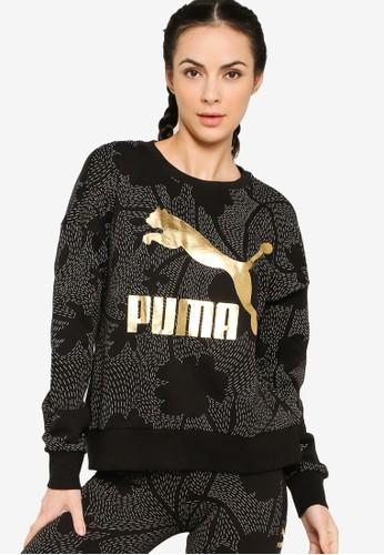 PUMA black Classics Graphics AOP Crew Sweatshirt C349AAAAA03A24GS_1