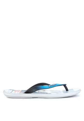 Rider black and grey and blue R1 Energy AD Flip Flops RI584SH75OZOPH_1