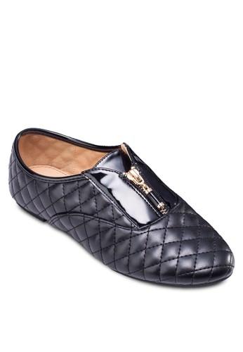 菱格拉鍊平底esprit macau鞋, 女鞋, 鞋