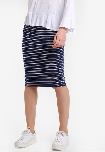 Cotton On navy Midi Tube Skirt CO372AA0RCPPMY_1