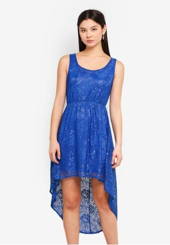 Mela London blue Lace High Low Dress D7B4EAA8D342BCGS_1