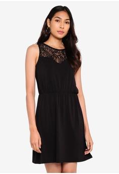 e4496016 Vero Moda black Milla Lace Sleeveless Short Dress DB79AAA834907DGS_1