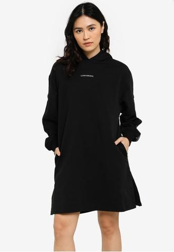 CALVIN KLEIN black Shadow Logo Hood Dresses - CK Jeans 4A78EAAE9DBF5DGS_1