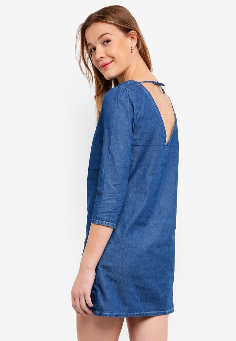Dress Mini ZALORA Dark Blue Mid Denim BASICS Basic cvzEWT