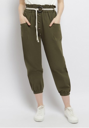 Just Out green Halley Jogger Pants 39184AAD3506ECGS_1