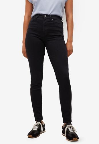Mango 黑色 High-Rise Skinny Jeans B67BFAAA16906AGS_1