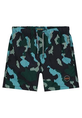 Shiwi green Boy's Printed Swim Shorts 13D3AKAB6720E9GS_1
