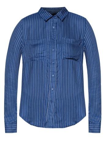 Santorinesprit outlet 桃園i 前短後長長袖襯衫, 服飾, 服飾
