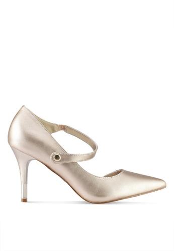 VINCCI gold Strappy Pump Heels 338F1SHA2DCB76GS_1