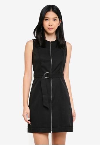 ZALORA black Lace Panel Utility Dress 3C36AAAC84713EGS_1