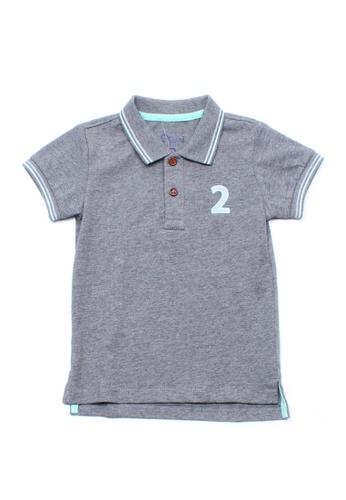 Mini Moley grey Twin Tipped Boy's Polo T-Shirt 91EA3KA6CF121DGS_1