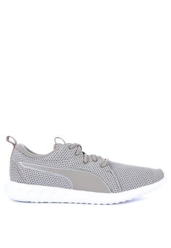 Puma grey Carson 2 Nature Knit Training Shoes 92523SH1E9F8B0GS_1