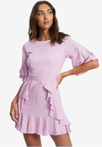 Tussah purple Cecilia Ruffle Dress 0C62DAA4C51DCEGS_1
